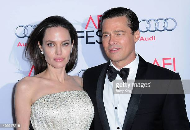 Director/producer/writer/actress Angelina Jolie and actor Brad Pitt arrive at AFI FEST 2015 Presented By Audi Opening Night Gala Premiere Of...
