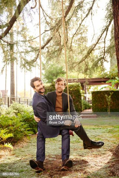 Directors actors Mark and Jay Duplass are photographed for Variety on January 14 in Los Angeles California