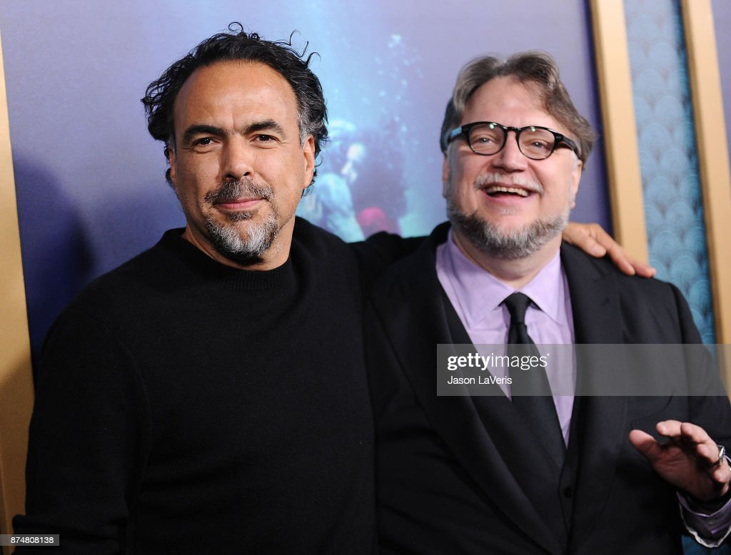 Directors Alejandro Gonzalez Inarritu and Guillermo del Toro attend the premiere of 'The Shape of Water' at the Academy of Motion Picture Arts and Sciences on November 15, 2017 in Los Angeles, California.
