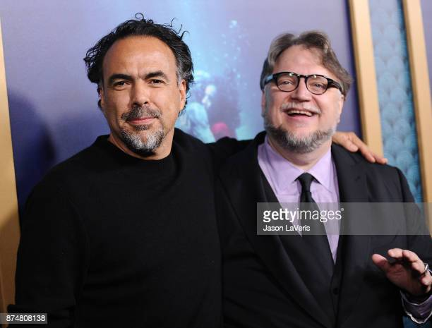 Directors Alejandro Gonzalez Inarritu and Guillermo del Toro attend the premiere of 'The Shape of Water' at the Academy of Motion Picture Arts and...