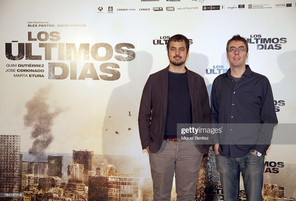 Directors (L-R) Alex Pastor and David Pastor attend at the photocall of 'Los Ultimos Dias'on March 20, 2013 in Barcelona, Spain.