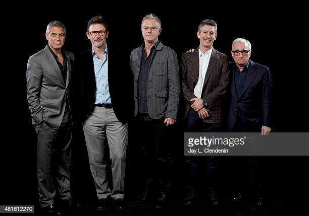 Directors Alexander Payne George Clooney Martin Scorsese Stephen Daldry Michel Hazanavicius are photographed for Los Angeles Times on January 14 2012...