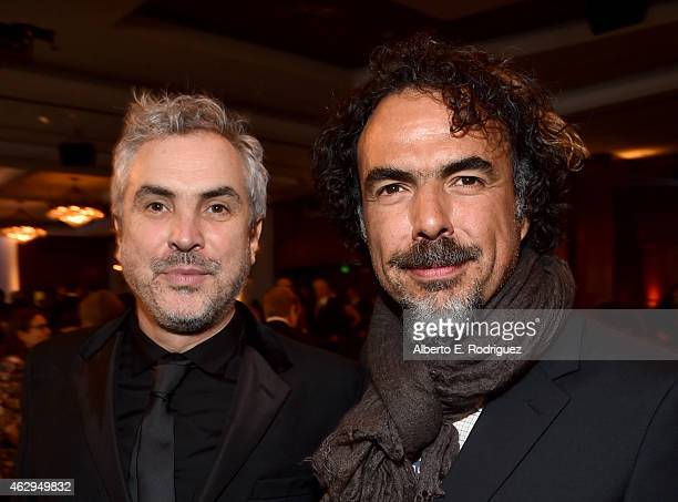 Directors Alfonso Cuaron and Alejandro Gonzalez Inarritu attend the 67th Annual Directors Guild Of America Awards at the Hyatt Regency Century Plaza...