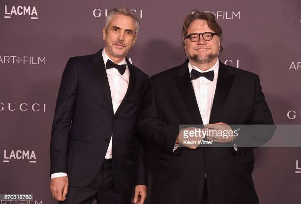 Directors Alfonso Cuaron and Guillermo del Toro attend the 2017 LACMA Art Film Gala Honoring Mark Bradford And George Lucas at LACMA on November 4...