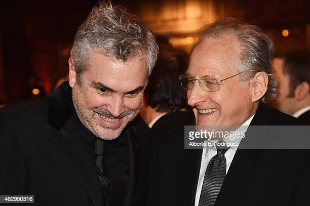 Directors Alfonso Cuaron and Michael Mann attend the 67th Annual Directors Guild Of America Awards at the Hyatt Regency Century Plaza on February 7...