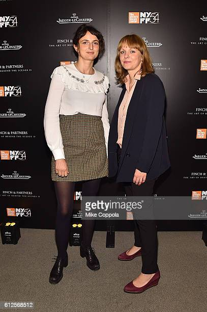 Directors Alice Rohrwacher and Maren Ade attend the JLC Hauser Cocktails event during the 54th New York Film Festival at Hauser Patron Salon at Alice...