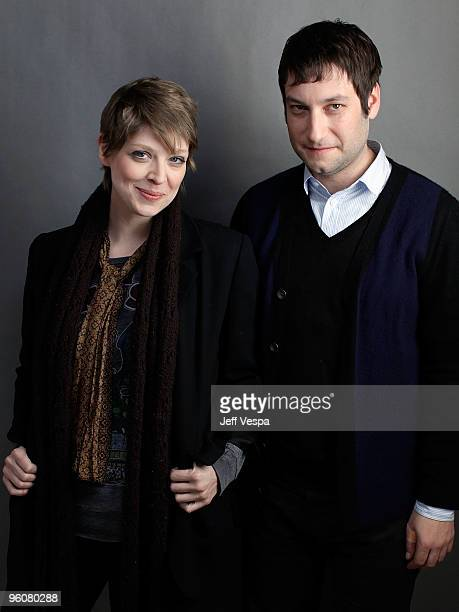 Directors Amber Benson and Adam Busch pose for a portrait during the 2010 Sundance Film Festival held at the WireImage Portrait Studio at The Lift on...