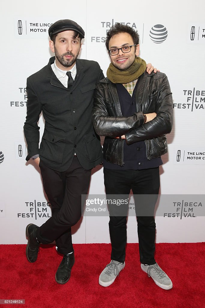 Directors and cast members Mike Ott and Nathan Silver attend the 'Actor Martinez' Premiere during the 2016 Tribeca Film Festival at Regal Battery Park Cinemas on April 14, 2016 in New York City.