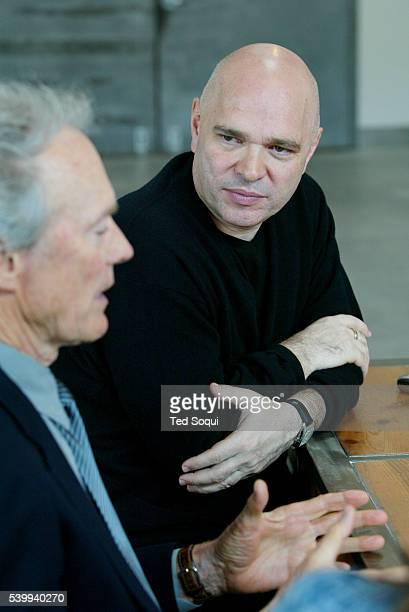 Directors and Oscar 2004 nominees Clint Eastwood and Anthony Minghella attend the directors roundtable at 5th and Sunset Studios The roundtable...