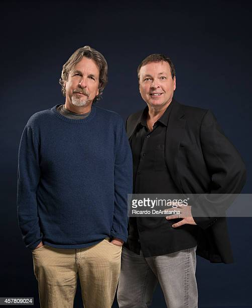 Directors and writers Peter Farrelly Bobby Farrelly are photographed for Los Angeles Times on September 16 2014 in West Hollywood California...