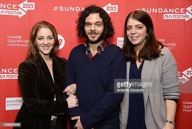 Directors Andrea Nix Fine and Sean Fine and HBO Senior Vice President of Documentary Films Nancy Abraham arrive at the 2013 Sundance Film Festival...