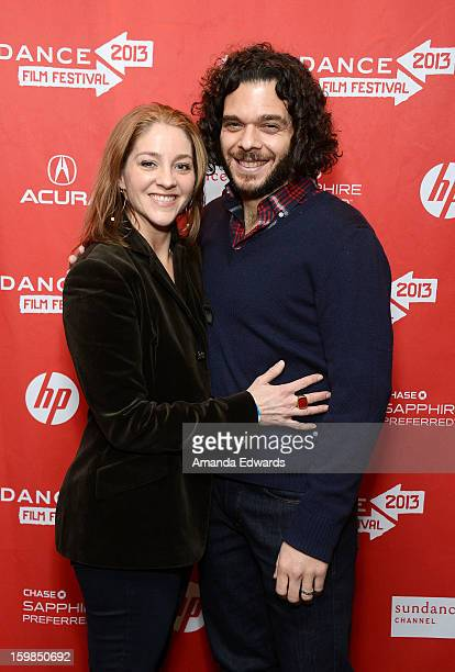 Directors Andrea Nix Fine and Sean Fine arrive at the 2013 Sundance Film Festival Premiere of Life According To Sam at Temple Theater on January 21...