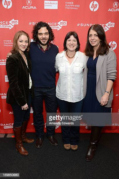 Directors Andrea Nix Fine and Sean Fine Audrey Gordon and HBO Senior Vice President of Documentary Films Nancy Abraham arrive at the 2013 Sundance...