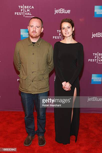 Directors Andy Capper and Juliette Eisner attend the Lil Bub Friendz world premiere during the 2013 Tribeca Film Festival on April 18 2013 in New...