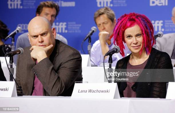 Directors Andy Wachowski and Lana Wachowski speak onstage at the Cloud Atlas Press Conference during the 2012 Toronto International Film Festival at...