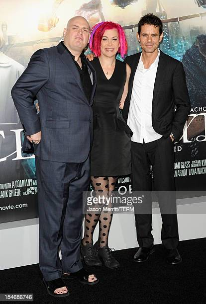 Directors Andy Wachowski Lana Wachowski and Tom Tykwer arrive at Warner Bros Pictures' Cloud Atlas premiere at Grauman's Chinese Theatre on October...