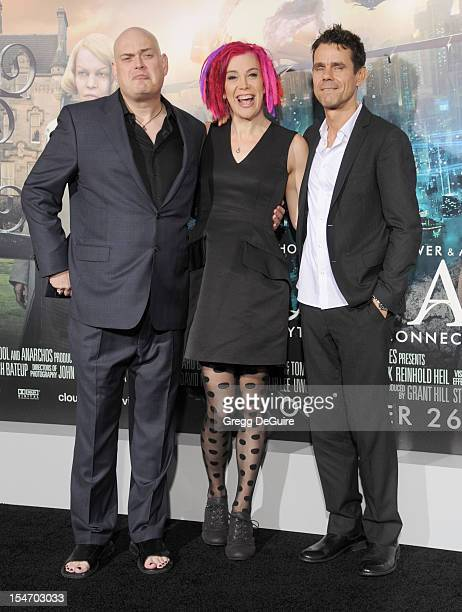 Director's Andy Wachowski Lana Wachowski and Tom Tykwer arrive at the Los Angeles premiere of Cloud Atlas at Grauman's Chinese Theatre on October 24...