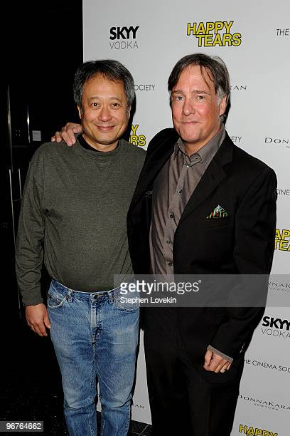Directors Ang Lee and Mitchell Lichtenstein attend a screening of Happy Tears hosted by the Cinema Society and Donna Karan at The Museum of Modern...