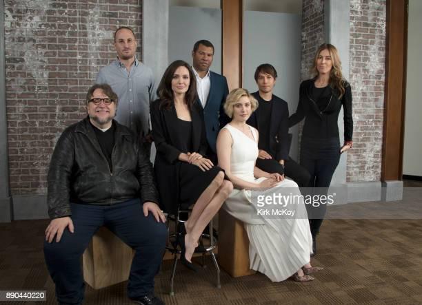 Directors Angelina Jolie Darren Aronofsky Guillermo del Toro Kathryn Bigelow Greta Gerwig Sean Baker and Jordan Peele are photographed for Los...