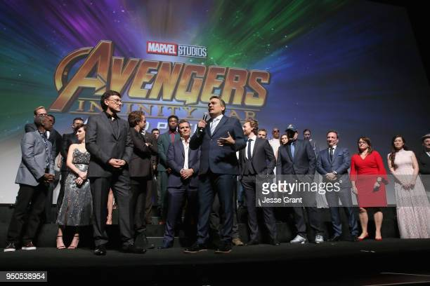 Directors Anthony Russo and Joe Russo and cast crew of 'Avengers Infinity War' attend the Los Angeles Global Premiere for Marvel Studios' Avengers...