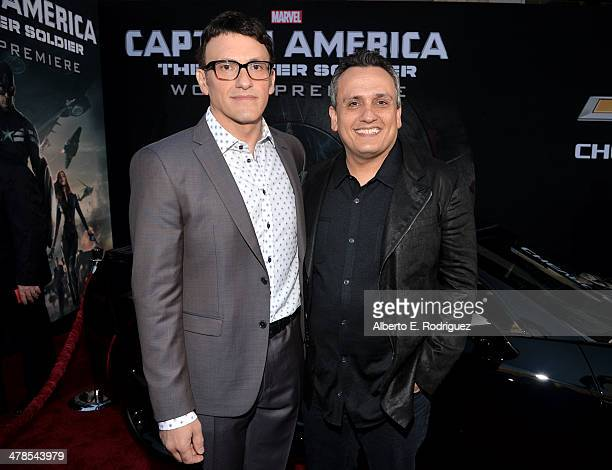 """Directors Anthony Russo and Joe Russo attend Marvel's """"Captain America: The Winter Soldier"""" premiere at the El Capitan Theatre on March 13, 2014 in..."""