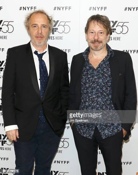 Directors Arnaud Desplechin and Mathieu Amalric attend the 55th New York Film Festival 'Ismael's Ghosts director's cut' at Alice Tully Hall on...