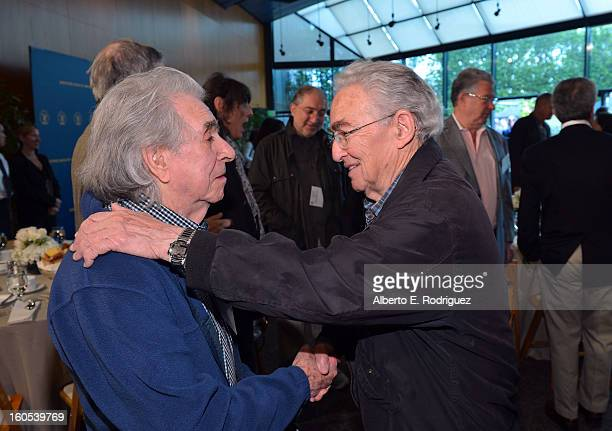 Directors Arthur Hiller and Elliot Silverstein attend the 65th Annual Directors Guild of America Awards President's Breakfast held at the DGA on...
