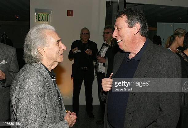 Directors Arthur Hiller and Ivan Reitman attend The Canadian Film Centre cocktail reception celebrating the Telefilm Canada Features Comedy Lab held...