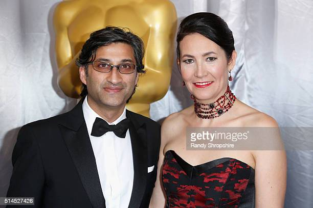 Directors Asif Kapadia and Victoria Kapadia attend the 88th Annual Academy Awards at Hollywood Highland Center on February 28 2016 in Hollywood...