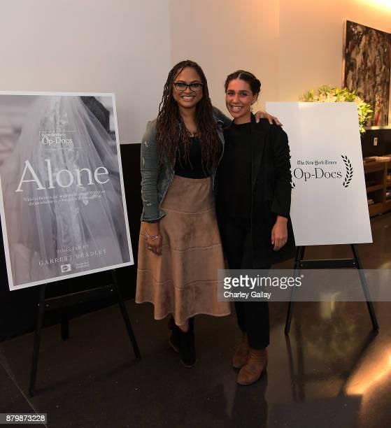 Directors Ava DuVernay and Garrett Bradley attend 'Alone' Screening with Ava DuVernay and Director Garrett Bradley Presented by The New York Times...