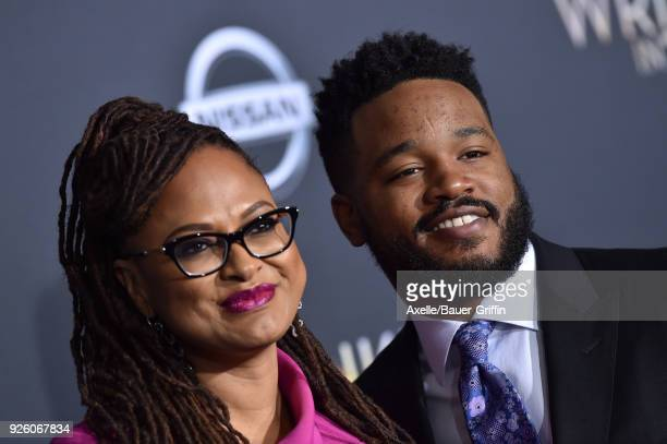 Directors Ava DuVernay and Ryan Coogler arrive at the premiere of Disney's 'A Wrinkle In Time' at El Capitan Theatre on February 26 2018 in Los...