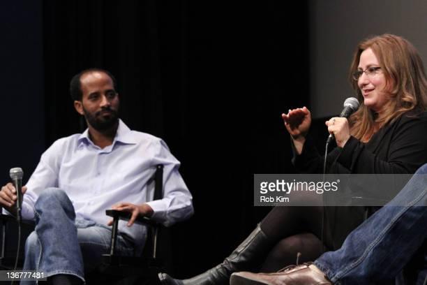 """Directors Avishai Yeganyahu Mekonen and Shari Rothfarb Mekonen attend the screening of """"400 Miles To Freedom"""" during the 2012 New York Jewish Film..."""