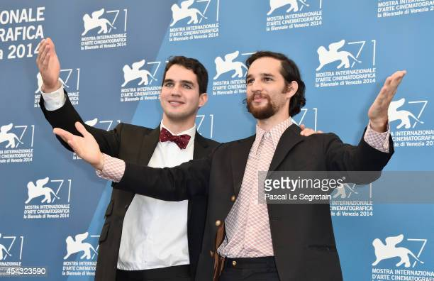 Directors Ben Safdie and Joshua Safdie attend the 'Heaven Knows What' photocall during the 71st Venice Film Festival on August 29 2014 in Venice Italy