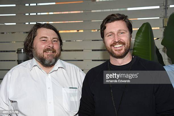 Directors Ben Wheatley and Andrew Haigh attend the We Are UK Film Party at TIFF 2015 at Spoke Club on September 14 2015 in Toronto Canada