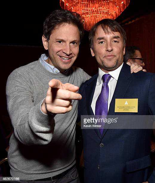 Directors Bennett Miller and Richard Linklater attend the 87th Annual Academy Awards Nominee Luncheon at The Beverly Hilton Hotel on February 2 2015...