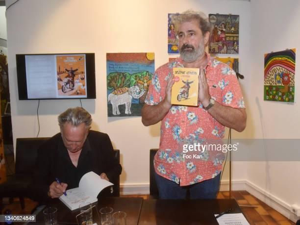 "Directors Benoit Delepine and Gustave Kervern attend ""Le Cinema De Benoit Delepine Et Gustave Kervern"" Book Signing Party At Halle Saint Pierre on..."