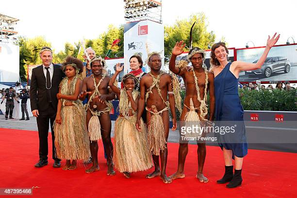 Directors Bentley Dean and Martin Butler and the cast from Tanna attend a premiere for '11 Minutes' during the 72nd Venice Film Festival at Sala...