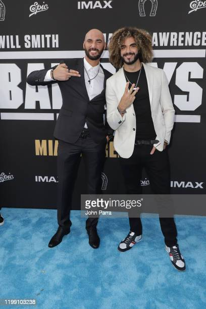 """Directors Bilall Fallah and Adil El Arbi arrive at the """"Bad Boys For Life"""" Miami Premiere at Regal South Beach Theater on January 12, 2020 in Miami..."""