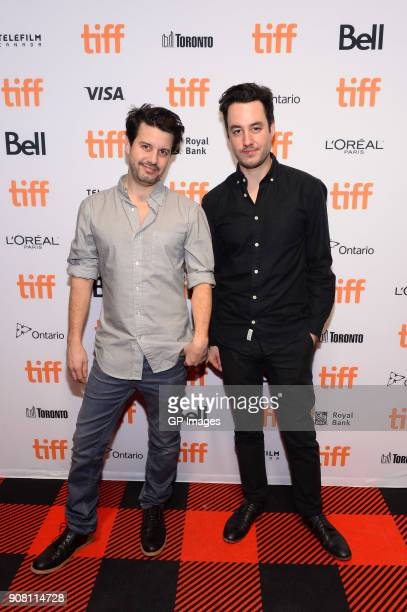 Directors Carlos Sanchez and Jason Sanchez attend the TIFF presents 'In Conversation With Evan Rachel Wood' at TIFF Bell Lightbox on January 20 2018...