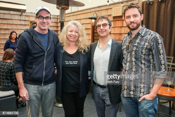 Directors Chad Hartigan Patricia Rozema Atom Egoyan and Jarod Moshe attend DIRECTV Presents The Directors Table with A24 and IndieWire at Wood Vine...