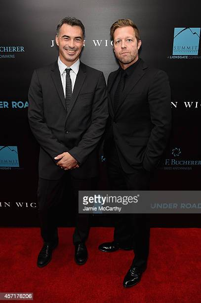 Directors Chad Stahelski and David Leitch attend the John Wick New York Premiere at Regal Union Square Theatre Stadium 14 on October 13 2014 in New...