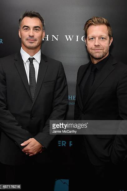 Directors Chad Stahelski and David Leitch attend the 'John Wick' New York Premiere at Regal Union Square Theatre Stadium 14 on October 13 2014 in New...