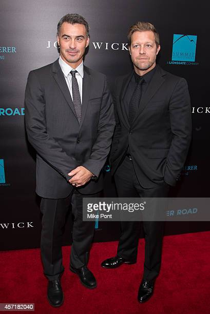 Directors Chad Stahelski and David Leitch attend the 'John Wick' New York Premiere at the Regal Union Square Theatre Stadium 14 on October 13 2014 in...