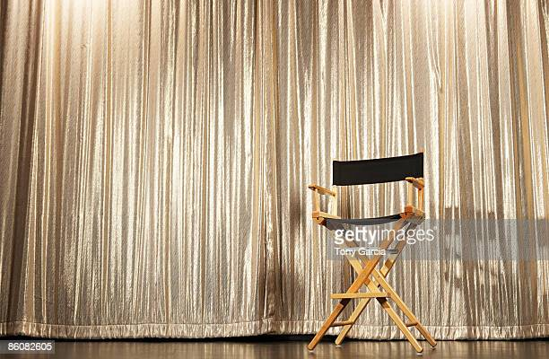 Director's chair on stage
