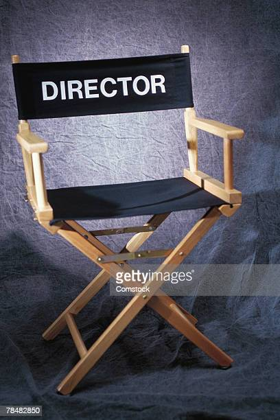 director's chair - cadeira de diretor - fotografias e filmes do acervo