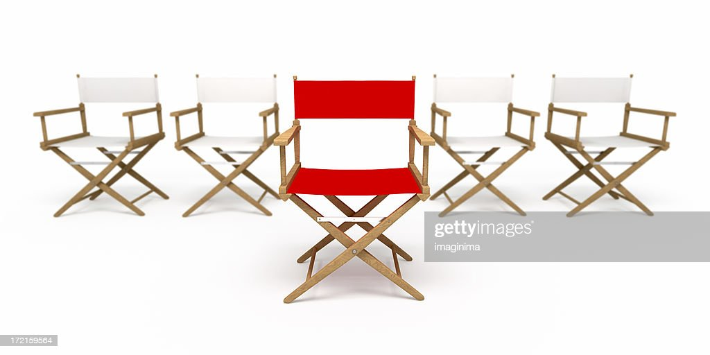 Director's Chair: The Leader I (Isolated on White) : Stock Photo