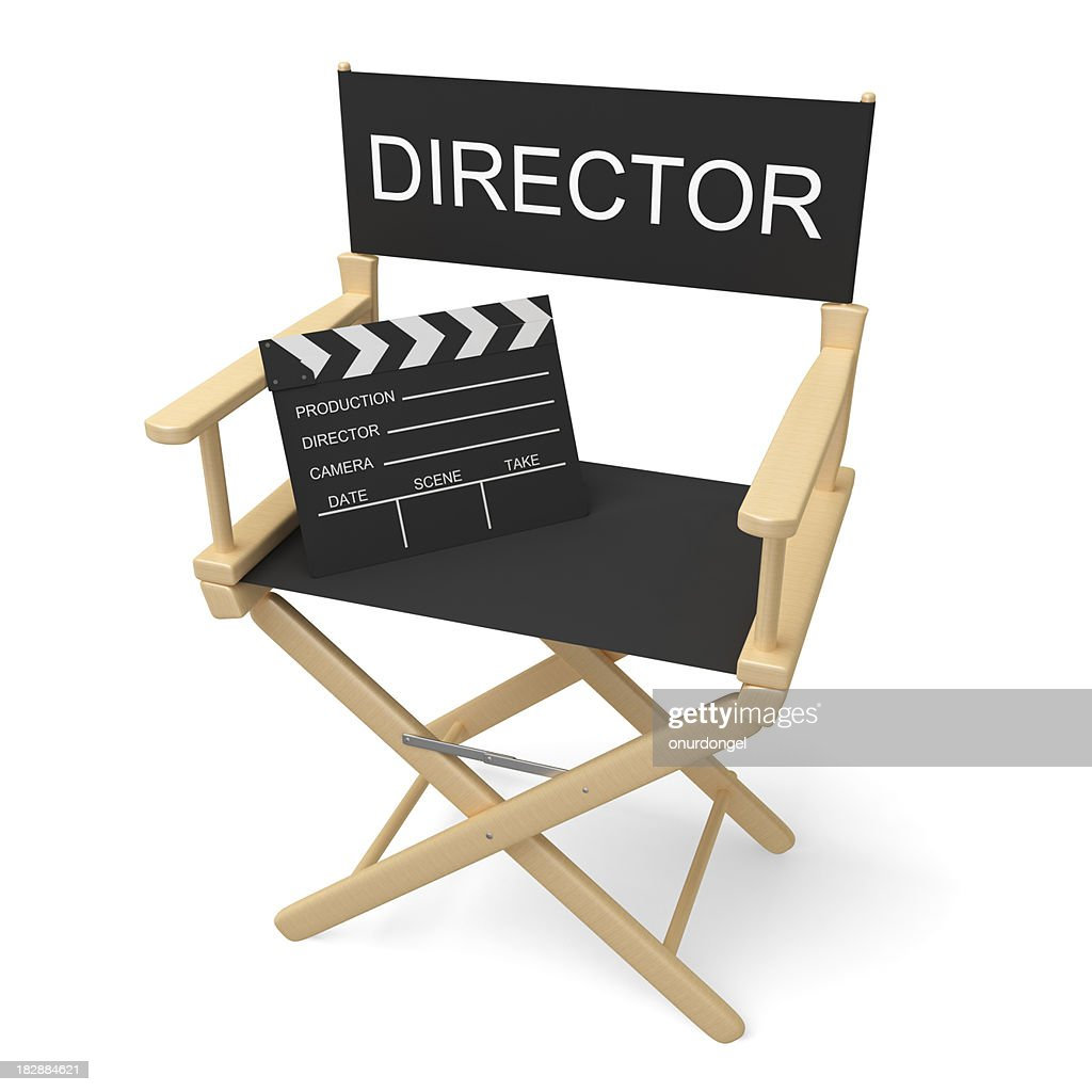 Director's Chair with Clipping Path : Stock Photo