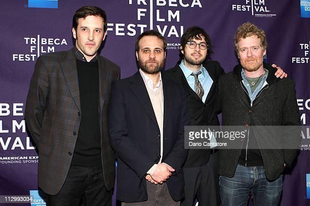 Directors Chris Dapkins Nick AugustPerna Carlo MirabellaDavis and musician Glen Hansard attend the premiere of The Swell Season during the 2011...