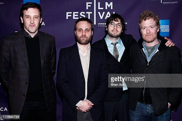 Directors Chris Dapkins Nick AugustPerna Carlo MirabellaDavis and musician Glen Hansard attends the premiere of The Swell Season during the 10th...
