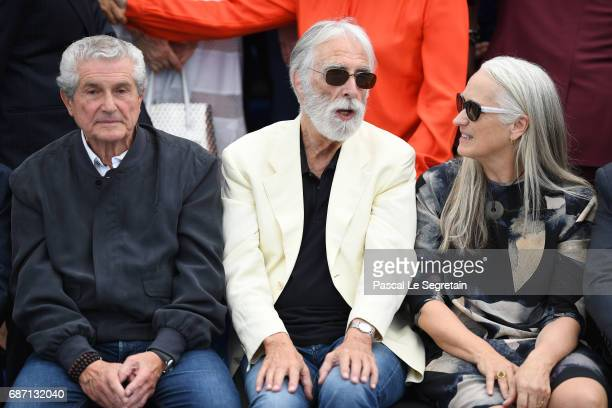 Directors Claude Lelouch Michael Haneke and Jane Campion attend the 70th Anniversary Photocall during the 70th annual Cannes Film Festival at Palais...